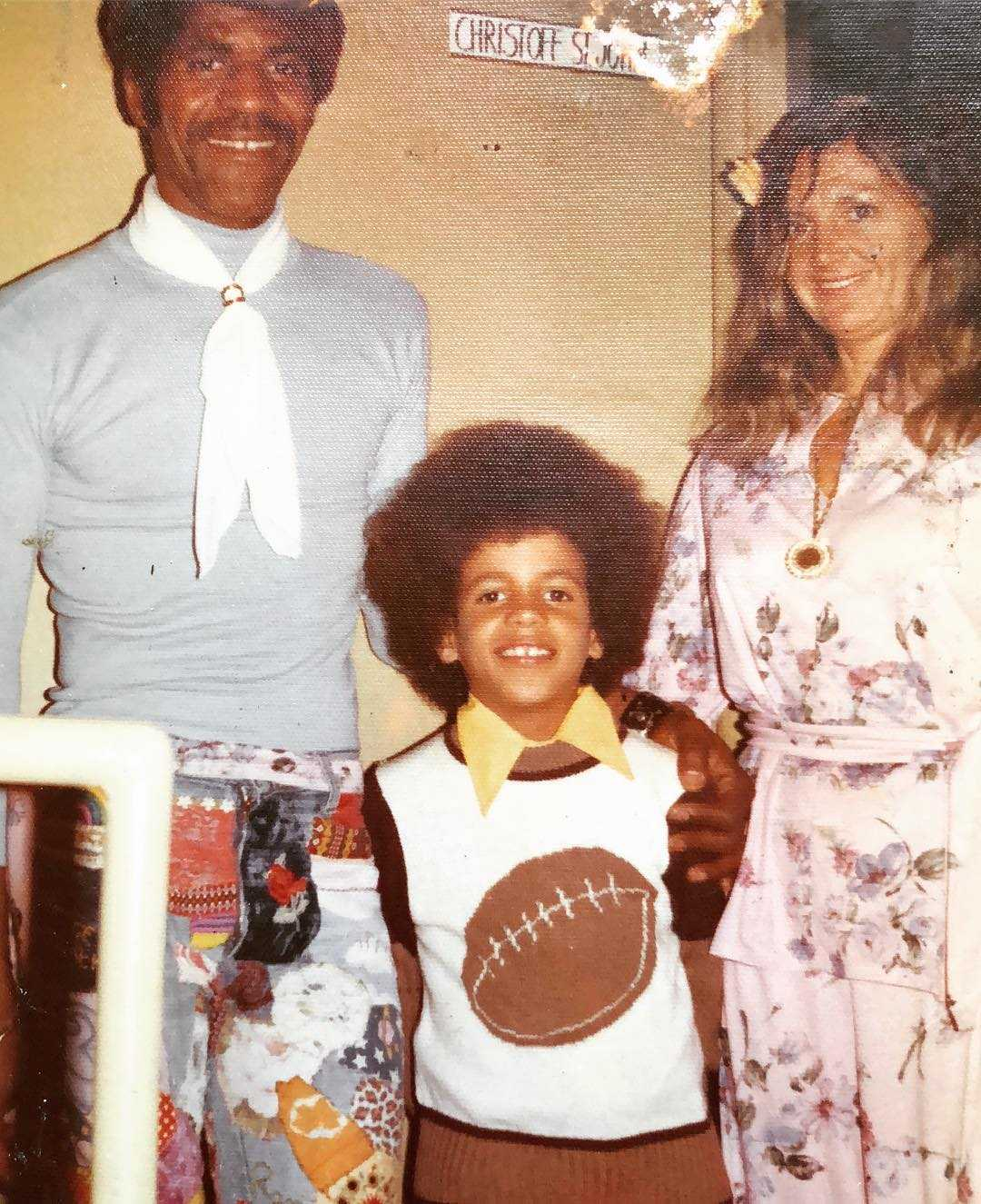 Kristoff St. John and his parents