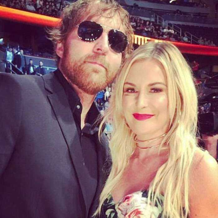 dean ambrose with his wife