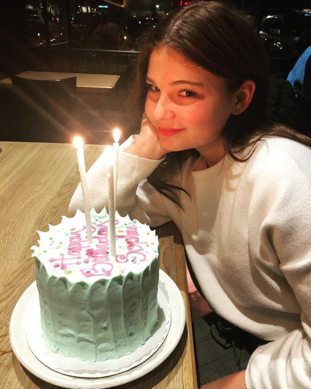 Sophie Pollono celebrating her birthda