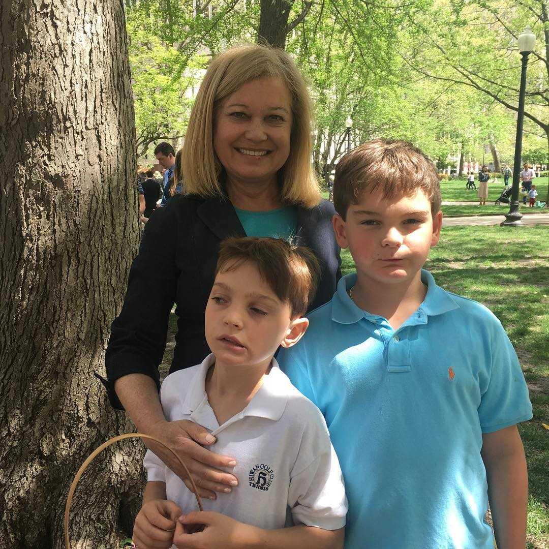 Monica Malpass with sons