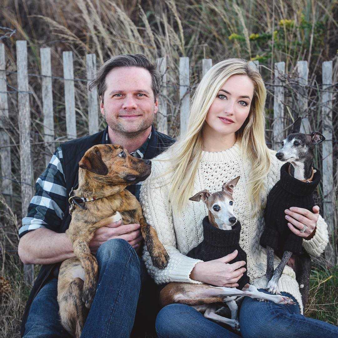 Katrina Szish with husband and pets