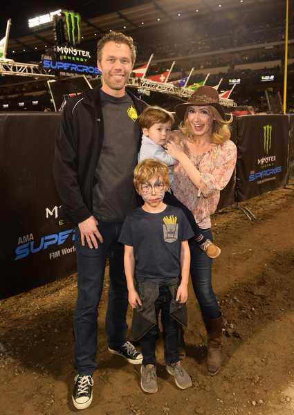 Joel Henricks with Ashley Jones and sons