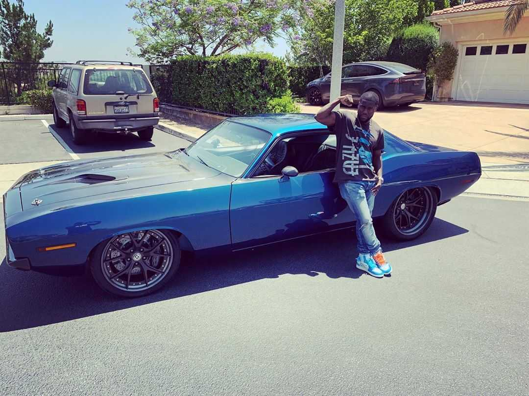 Kevin Hart with his 1970 Plymouth Barracuda