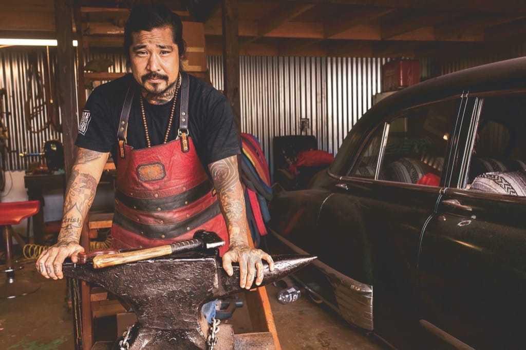 Blacksmith Neil Kamimura