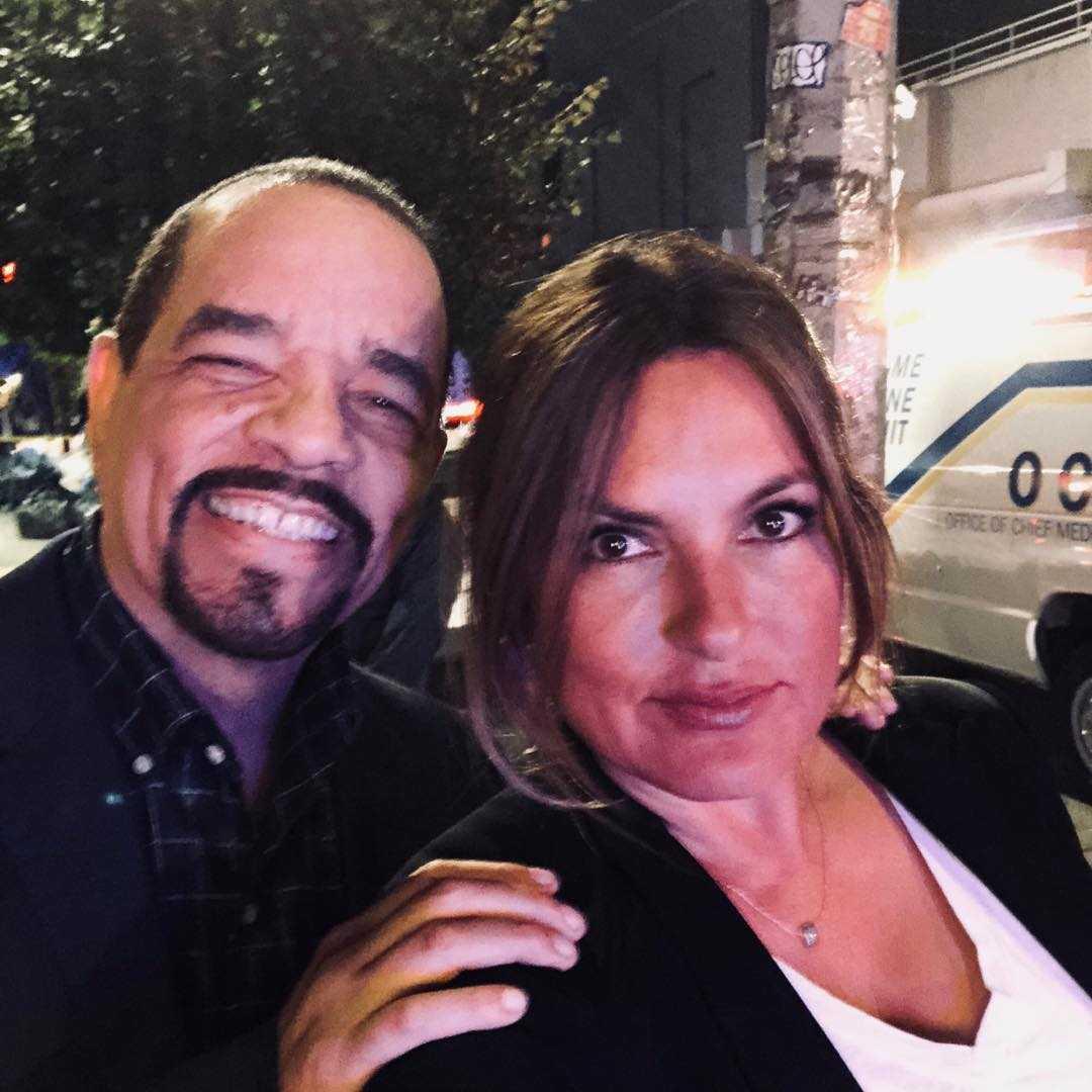 Ice T with Mariska Hargitay