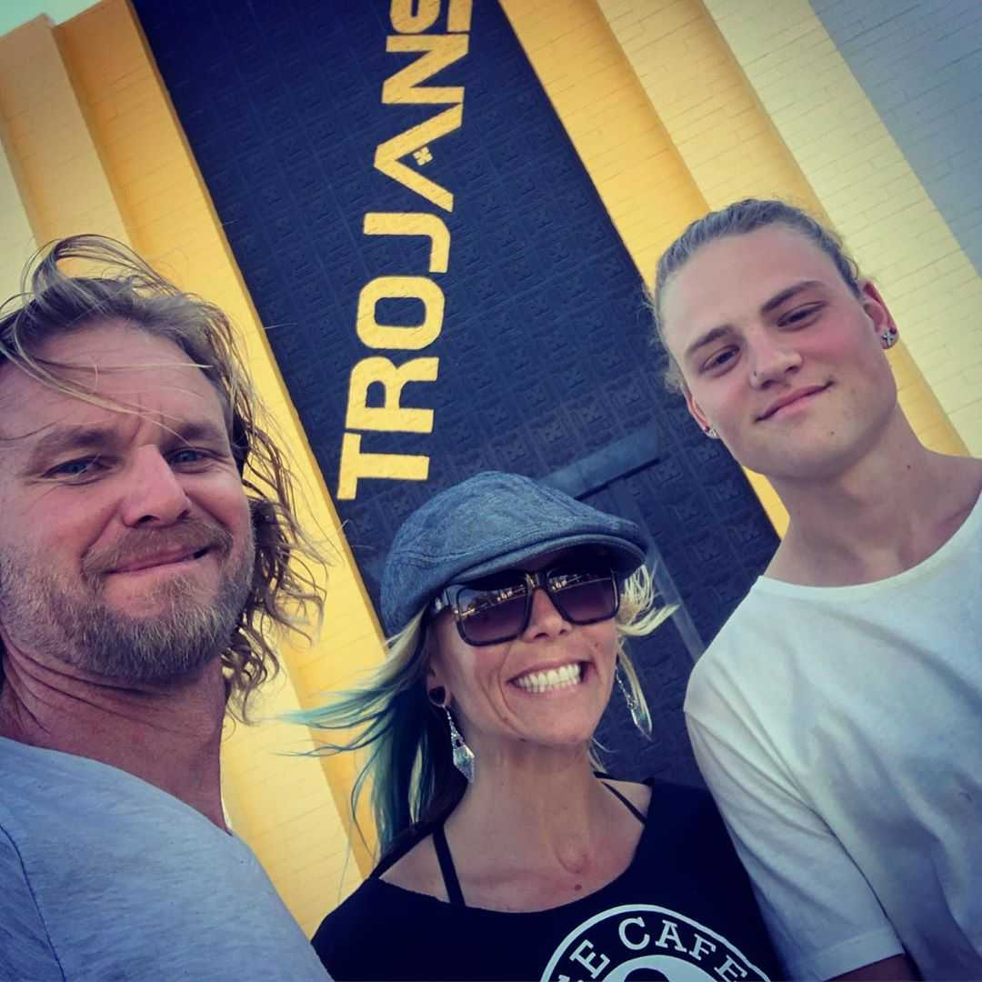 Terry Madden with Jessi Combs and his son, Dalton