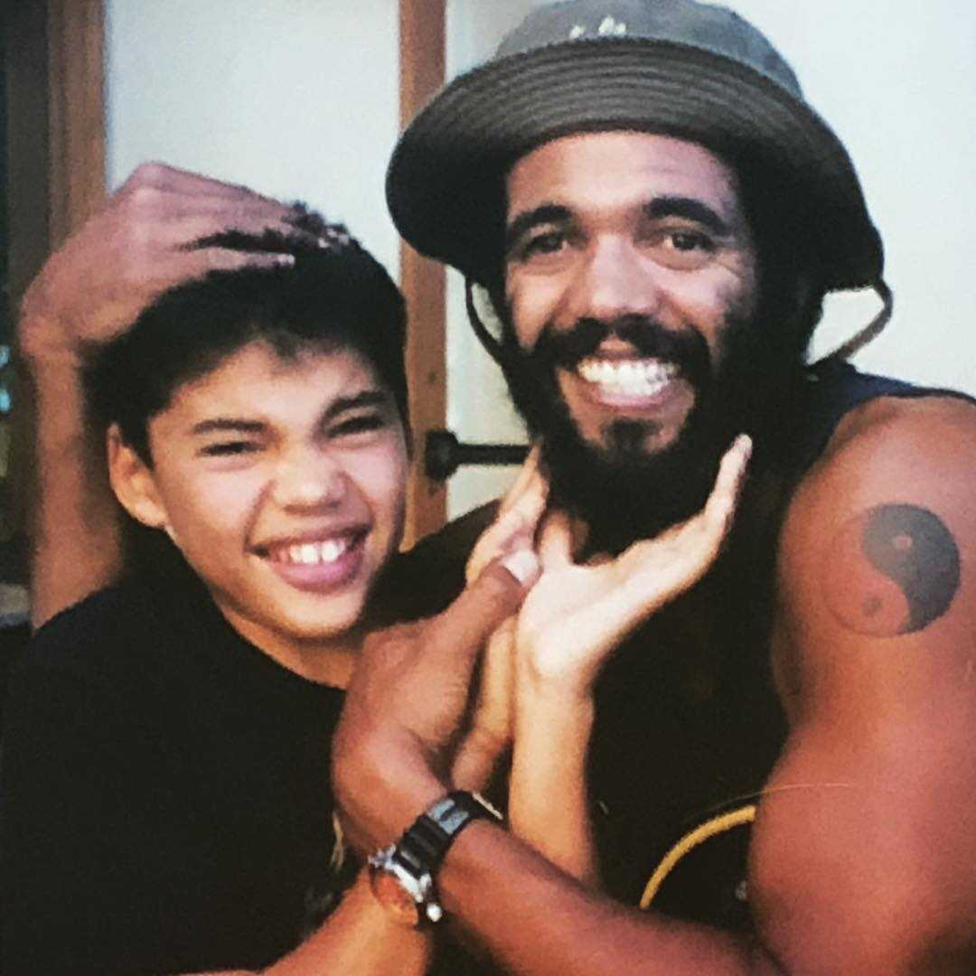 Kristoff St. John with his son