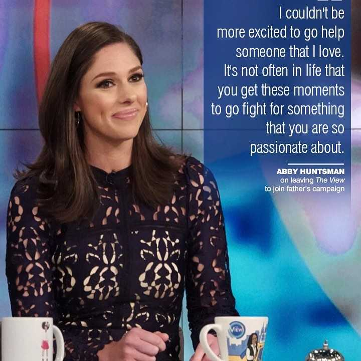 Abby Huntsman leaving The View