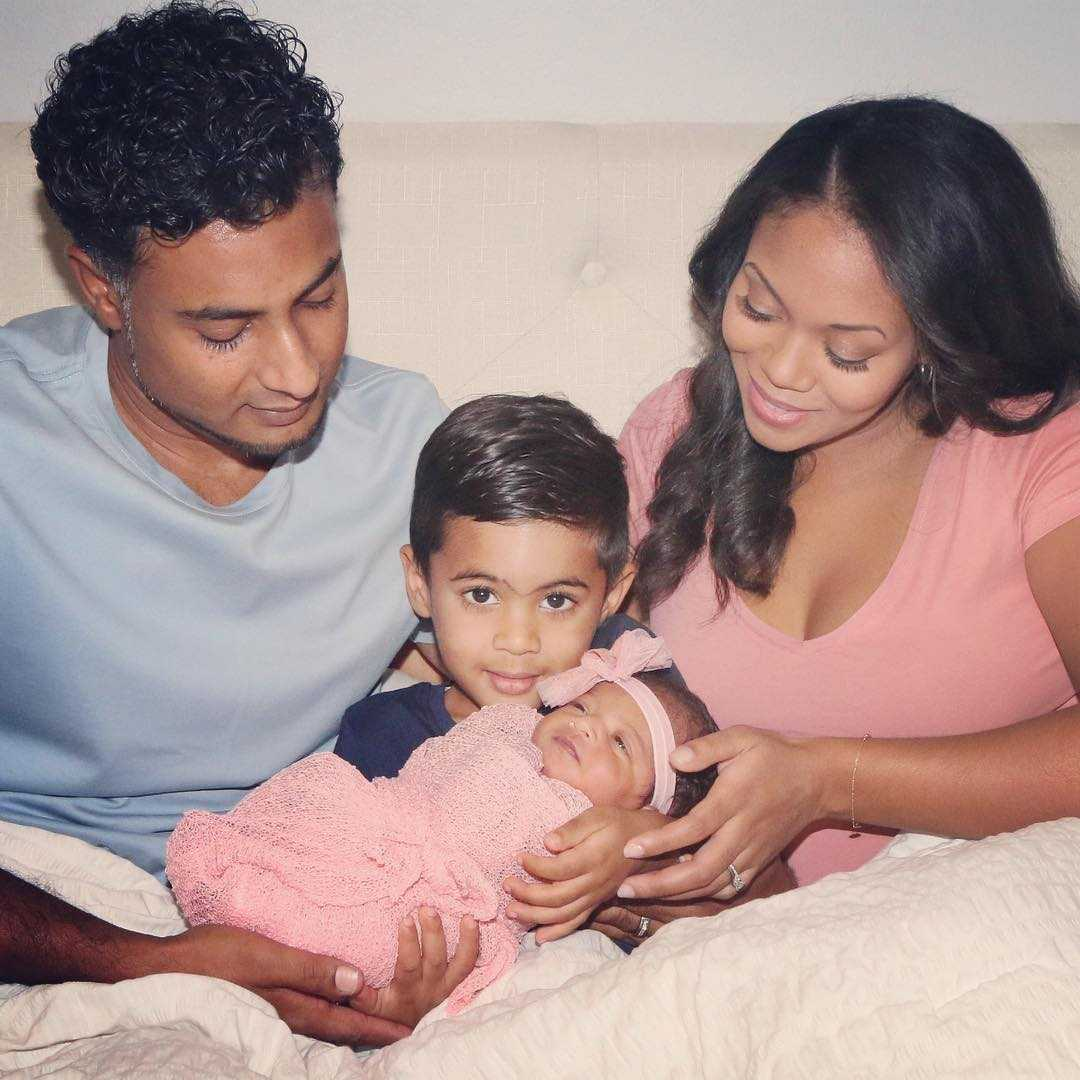 Mishael Morgan and her family