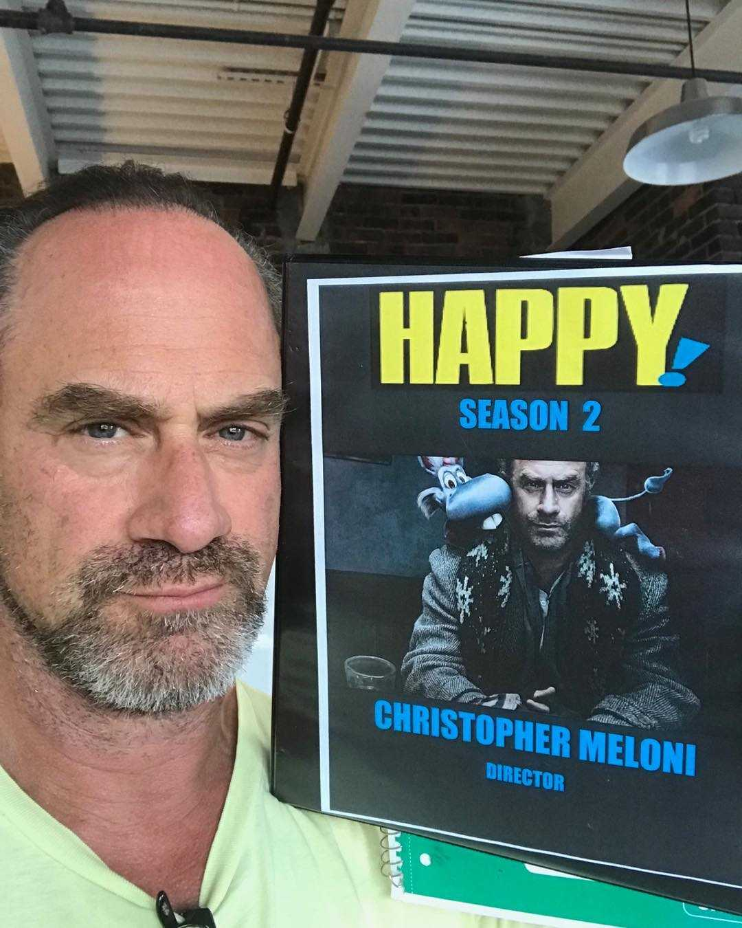 Christopher Meloni promoting his new series Happy!