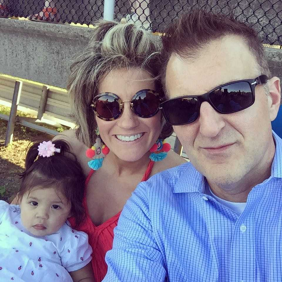 Shawn Killinger with husband and daughter