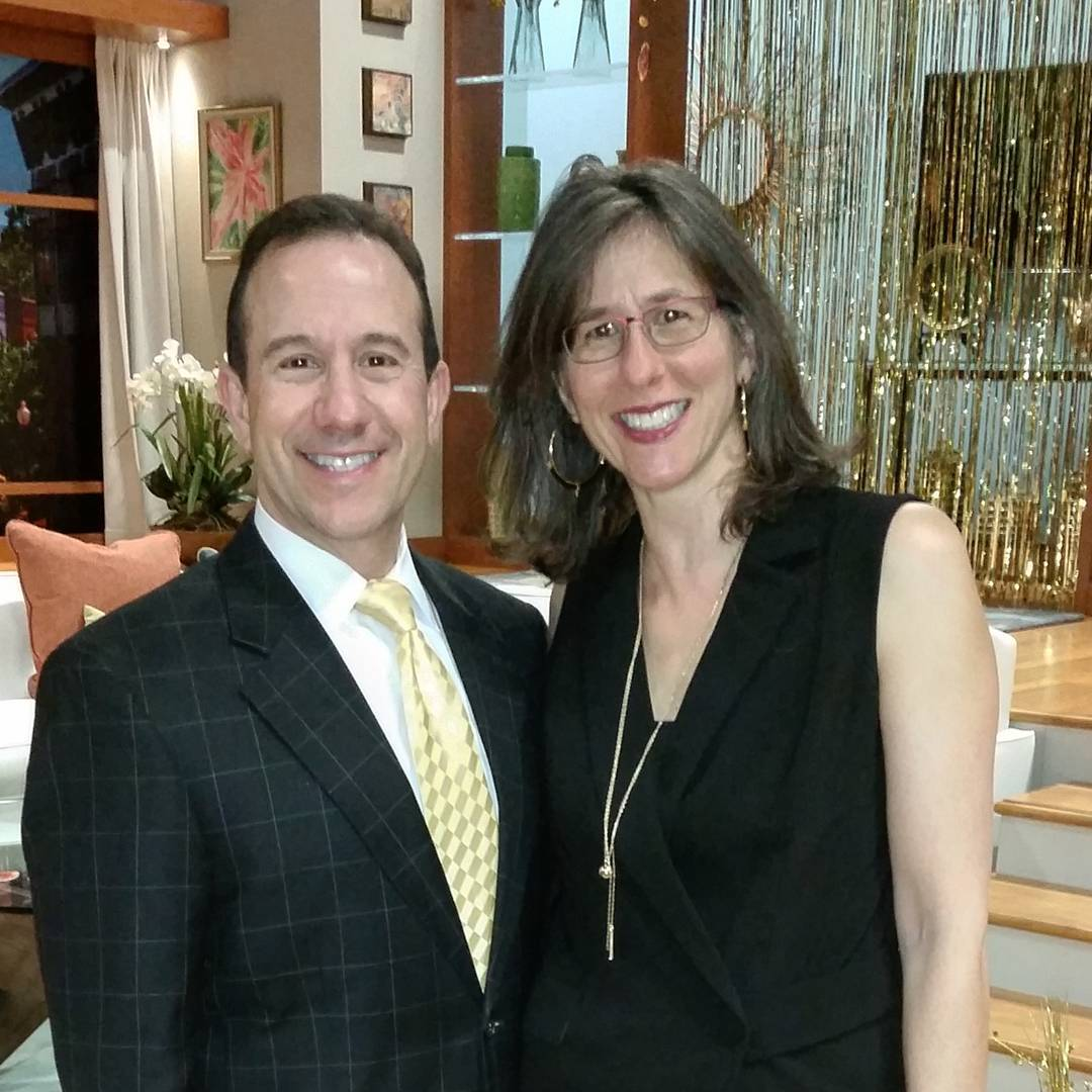 Howard Bernstein and his wife