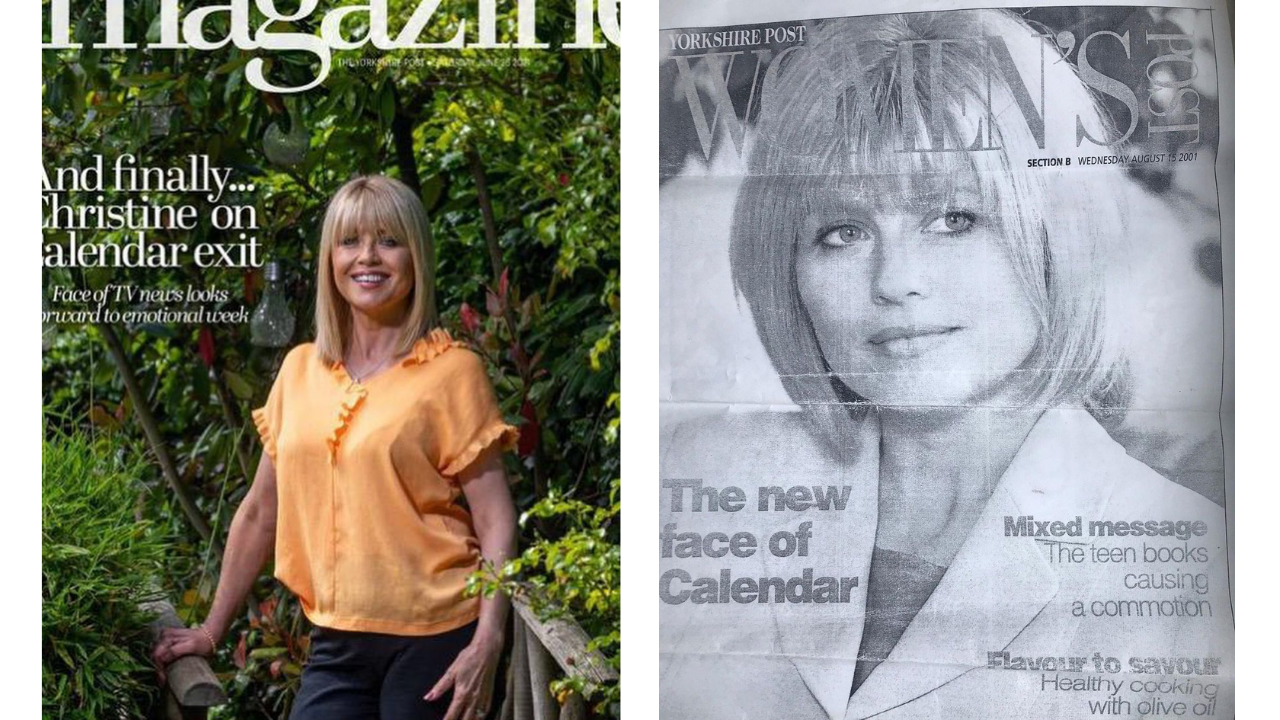Christine Talbot on magazine cover