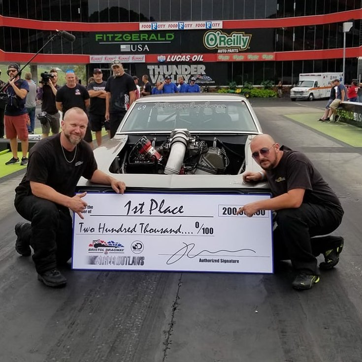 Brent Austin with his prize money
