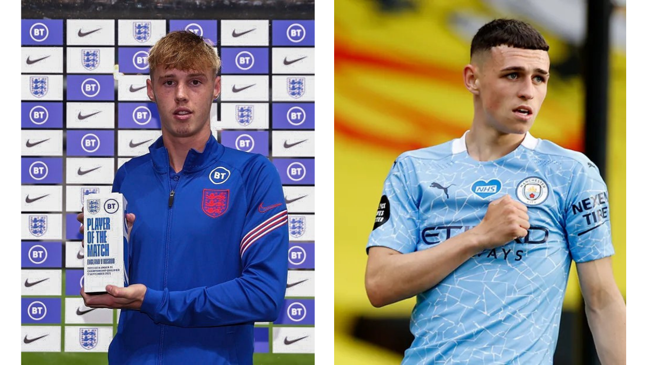 Cole Palmer and Phil Foden