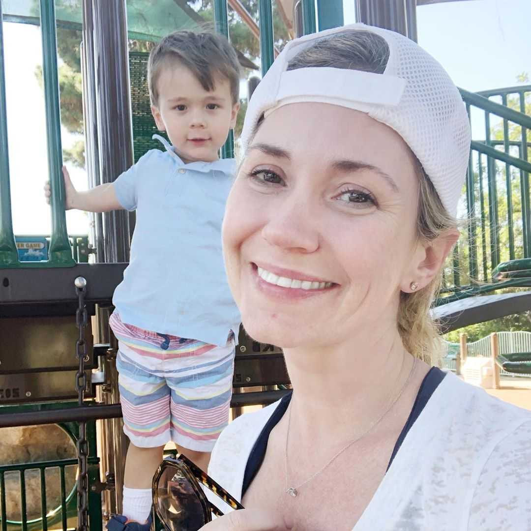 Ashley Jones and son Hayden